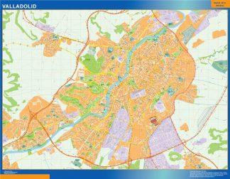 Kaart Van Valladolid Spanje Kaarten Voor Nederland Netmaps Nl